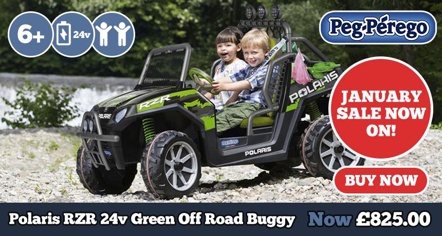 24v RZR Polaris Buggy Green